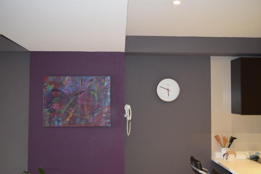 Combinación de 2 colores y Arte en paredes