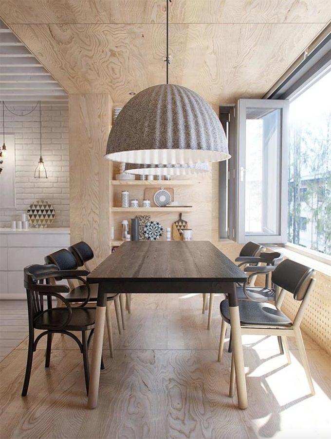 Espacios con pisos de diferente madera