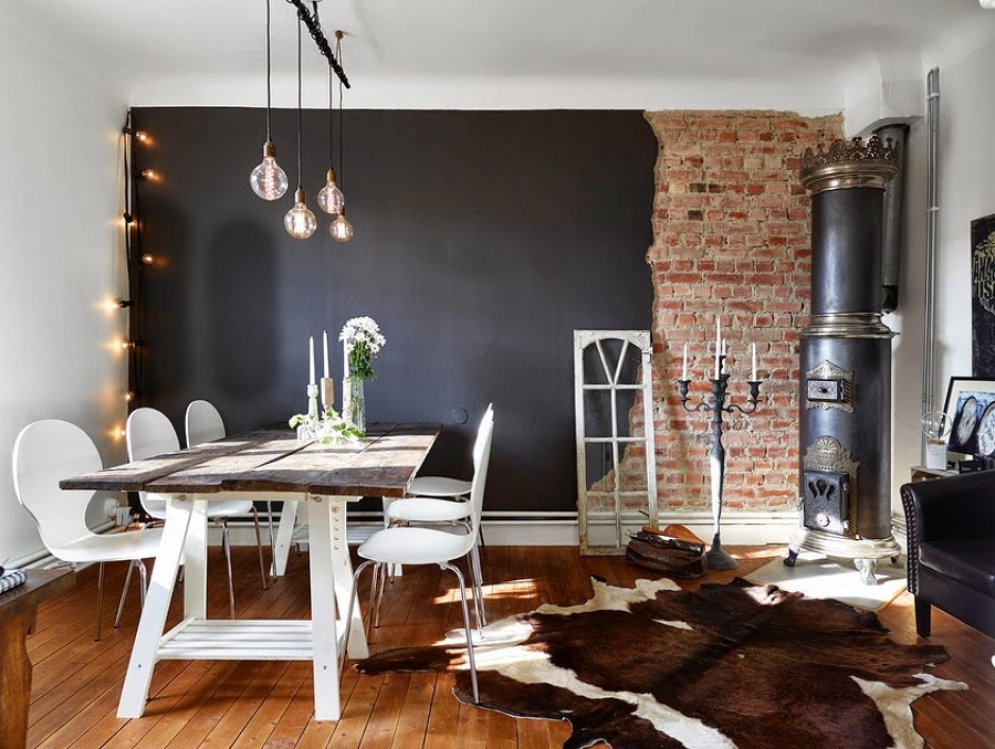 Foto comedor rustico en negro 136175 habitissimo for Comedor rustico moderno