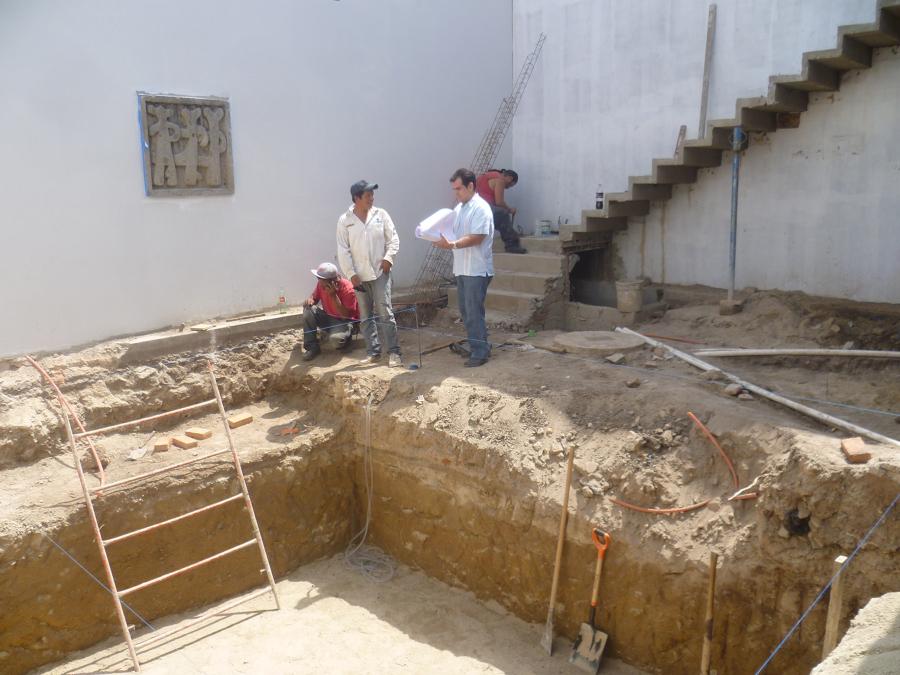 Foto construccion alberca casa luna de huacuja mosaico for Construccion de albercas precios