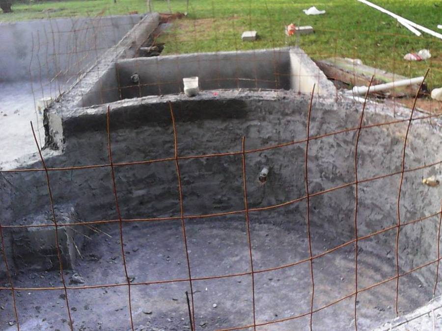 Construcci n de alberca y jacuzi en villahermosa tabasco for Como hacer una piscina en casa paso a paso