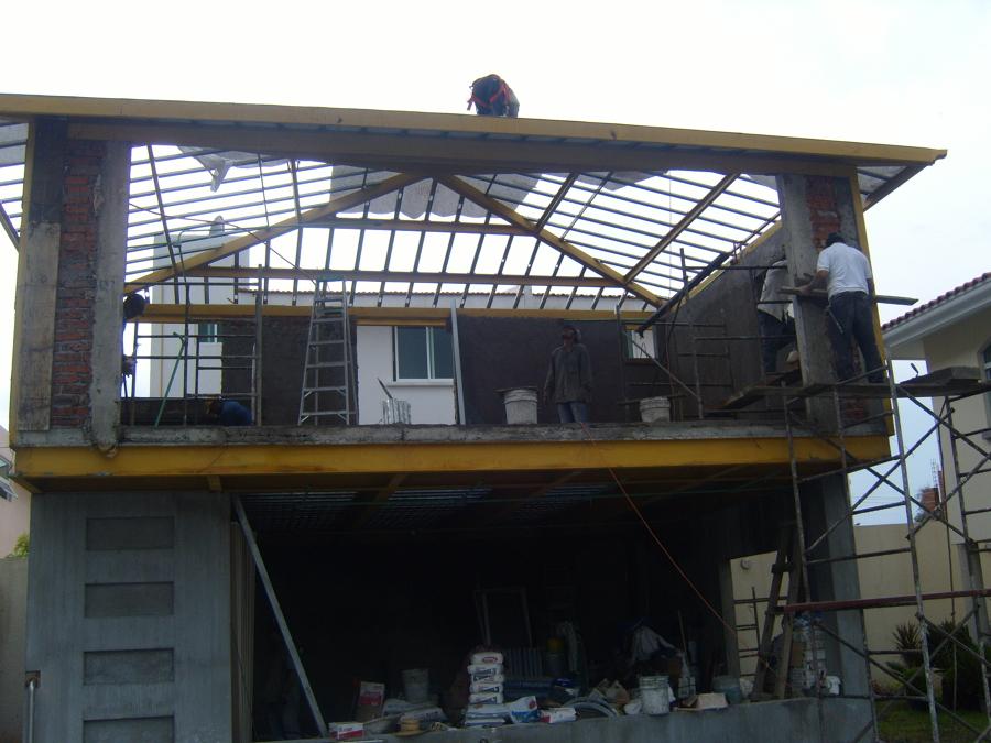 Construcción de área de gimnasio