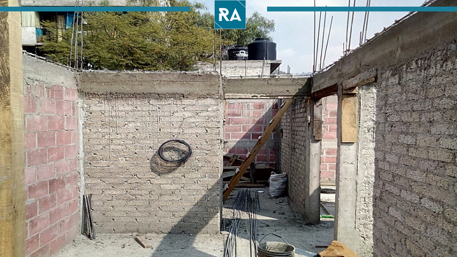 Construcción de muros divisorios