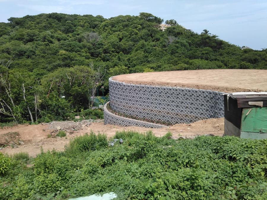 contencion con muro keystone