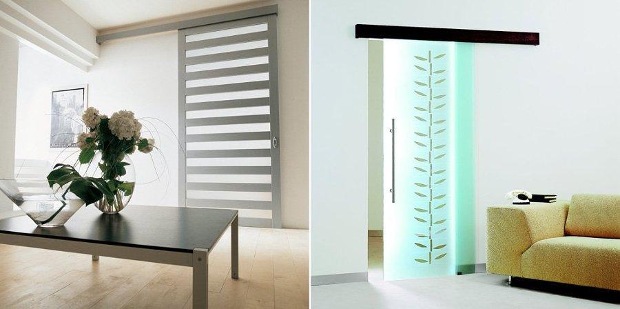puertas correderas de cristal doble