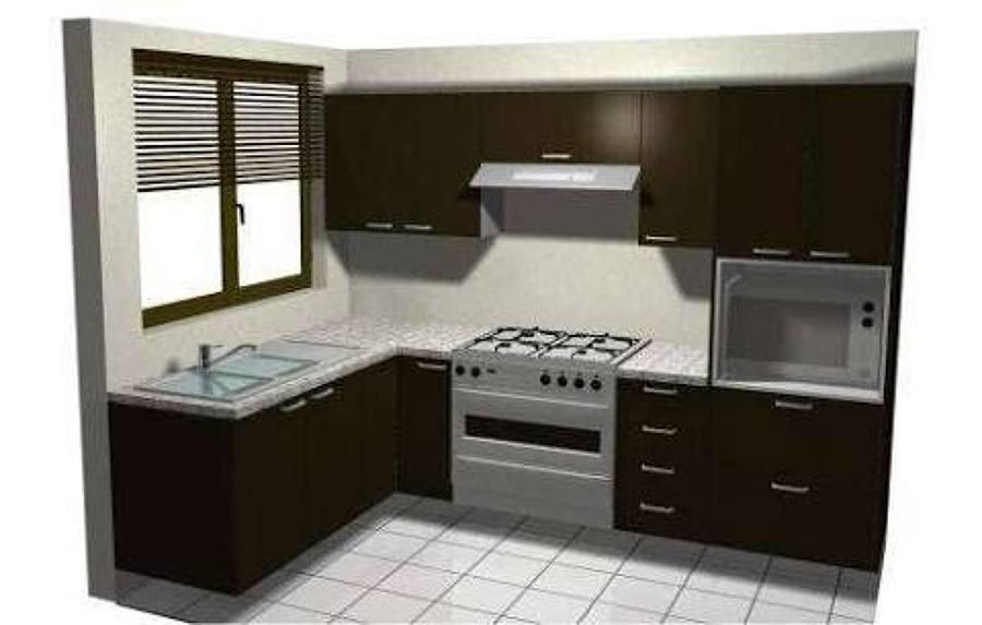 Foto cosina en escuadra de carpinter a y display oscar for Cocinas integrales en escuadra