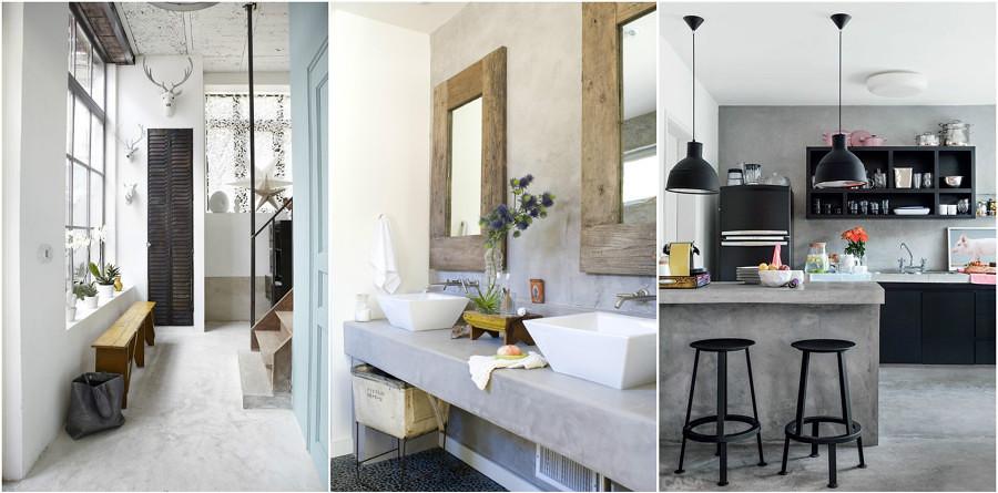 El cemento en la decoraci n del hogar ideas dise o de - Ideas para la decoracion del hogar ...
