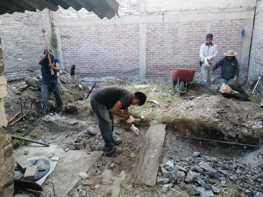 Demolición de antigua cimentación