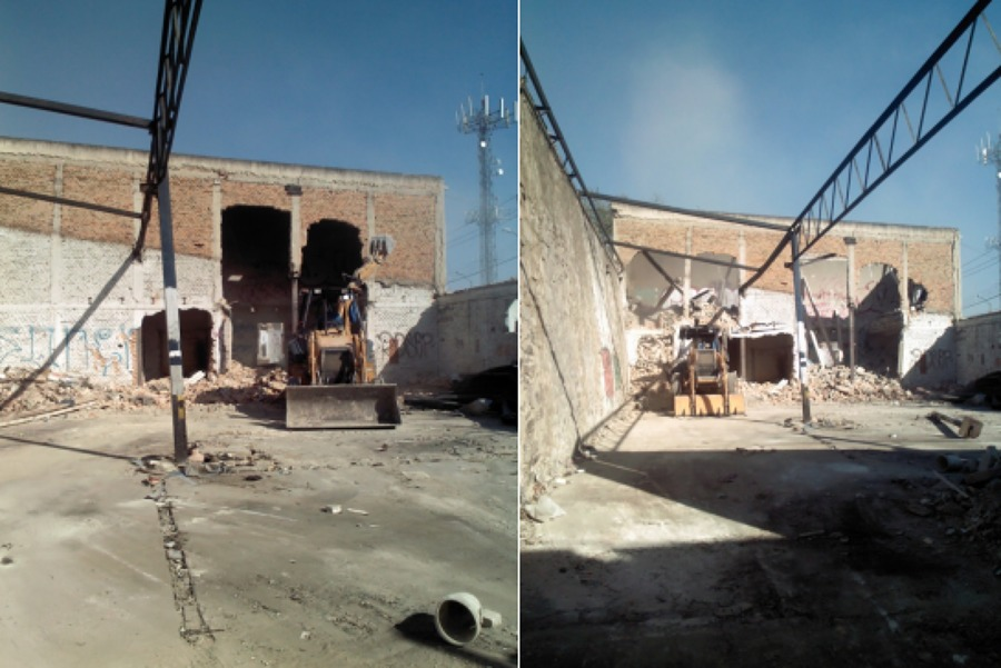 Demolición de bodega
