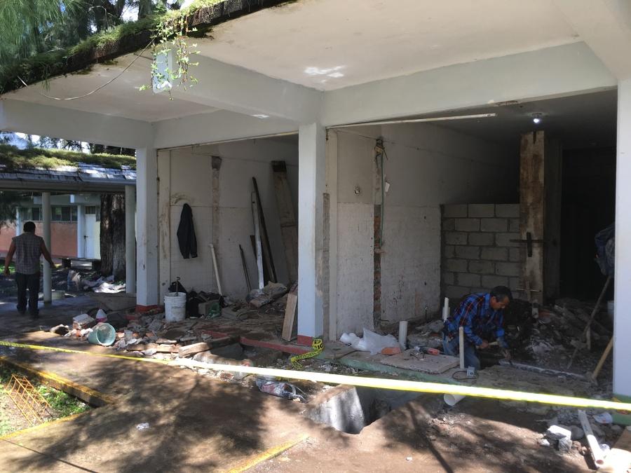 demolición del frente