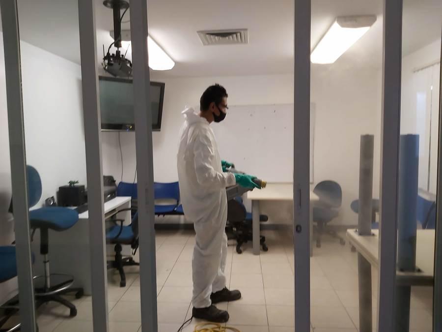 Desinfección por nebulización