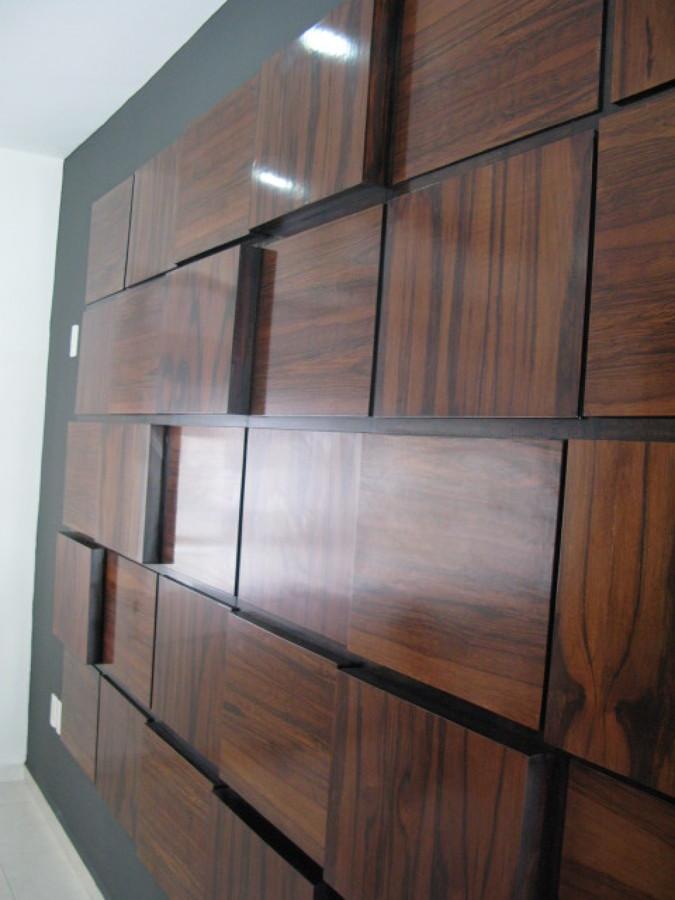 Foto detalle de muro de madera de tzalam de arquitectura - Muro de madera ...