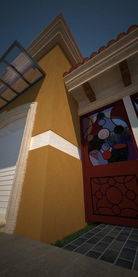 Detalle de puerta principal