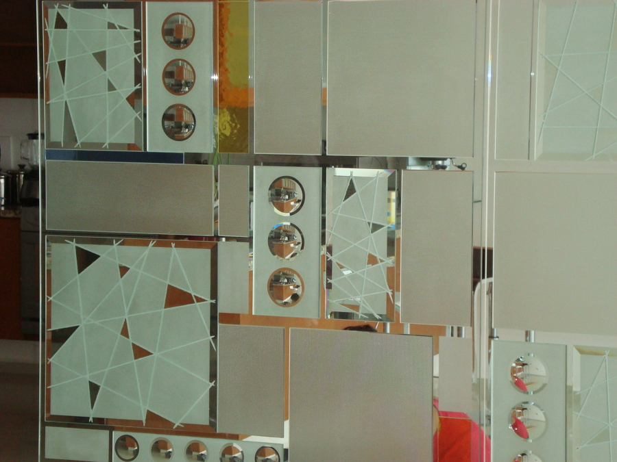 Detalles de decorado de cristal