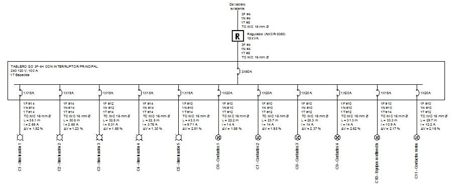 Circuito Unifilar : Foto diagrama unifilar de ingeniero mecánico electricista