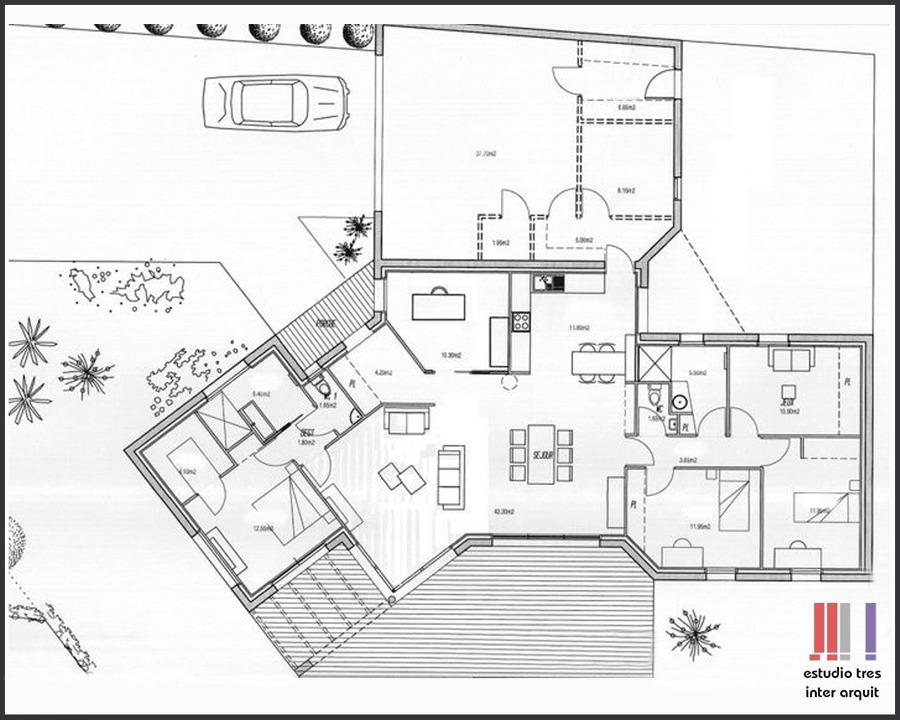 Foto Dise O Arquitectonico De Estudio Tres Inter Arquit