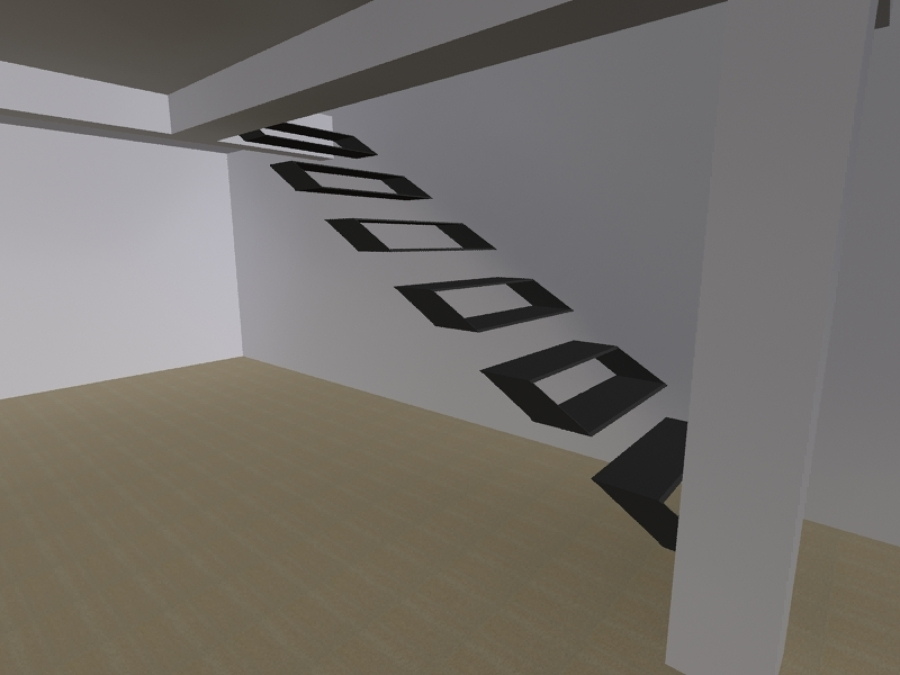 Dise o y construccion de escalera ideas arquitectos for Armar escalera metalica