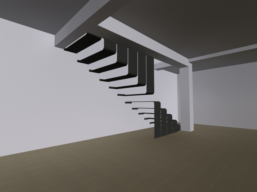 Foto dise o de escalera metalica de vivanco arquitectos - Escaleras de diseno para interiores ...