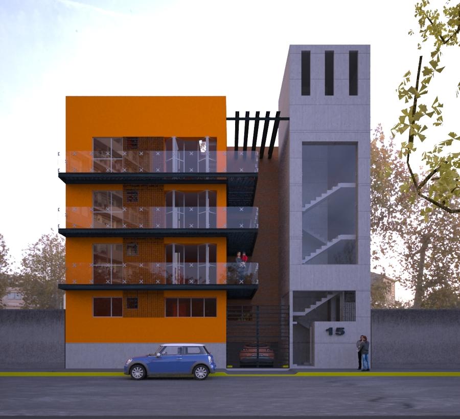 Dise o de fachada edificio departamentos montes 15 ideas for Como disenar un departamento