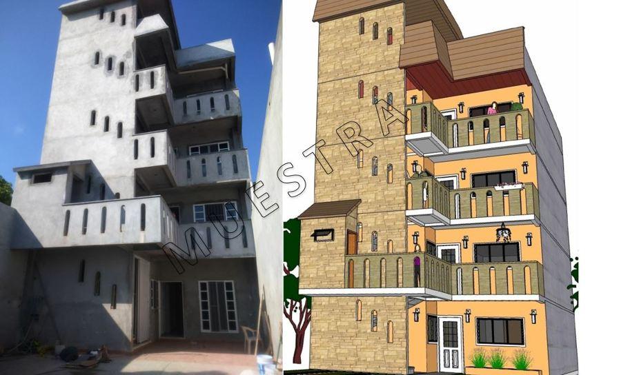 Dise o de edificio de departamentos ideas construcci n for Diseno de edificios