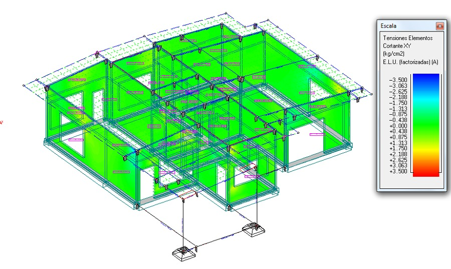 Foto dise o estructural casa habitaci n de ingenier a for Diseno de casa habitacion
