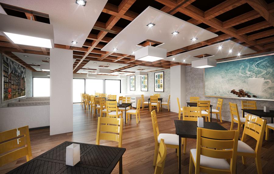 Foto dise o interior cafeteria tec milenio de hd for Disenos para cafeterias