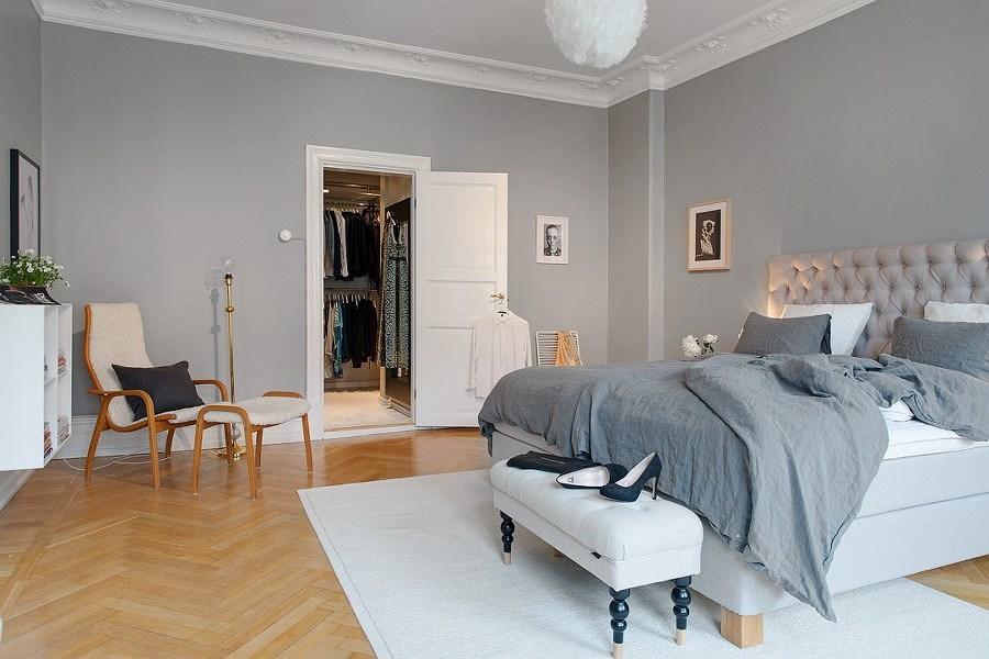 Foto cuarto amplio blanco y gris 208622 habitissimo for Cuarto color gris