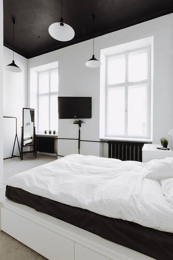 Foto: Dormitorio Blanco y Negro #145021 - Habitissimo