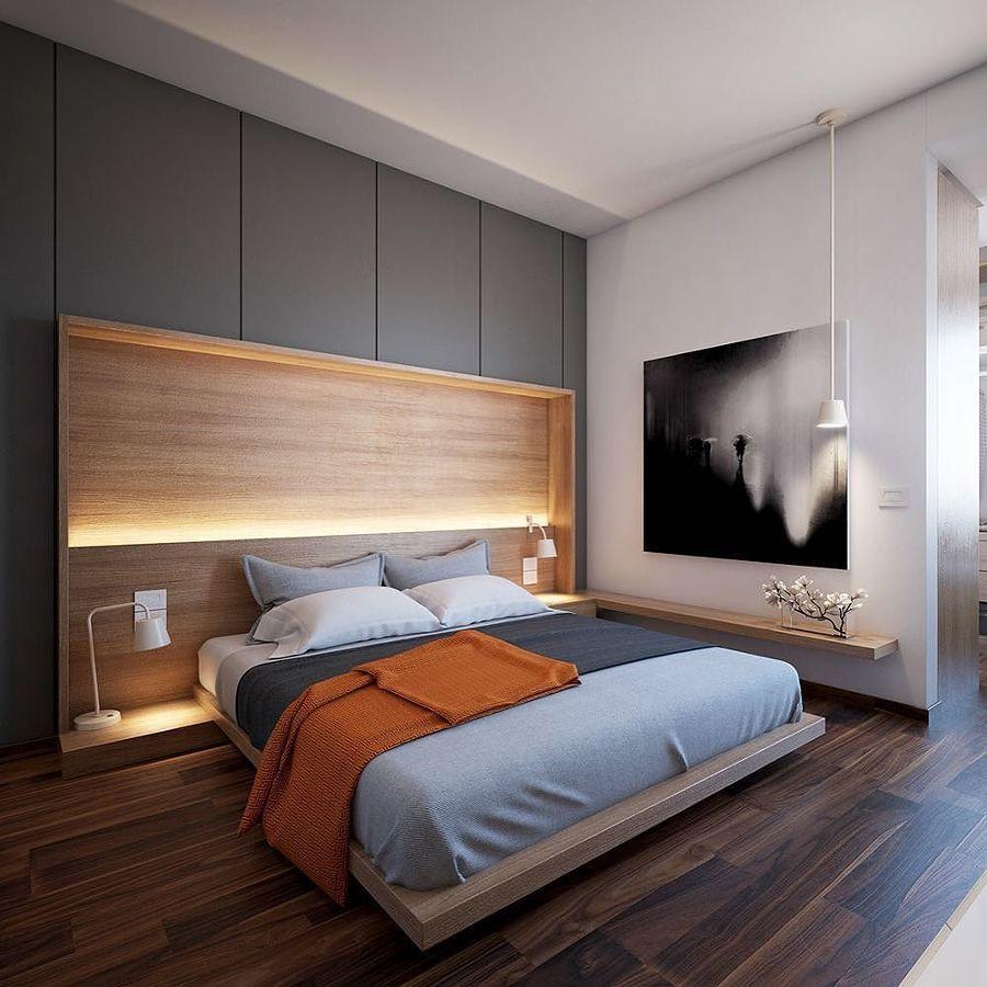 dormitorio con cabecero integrado