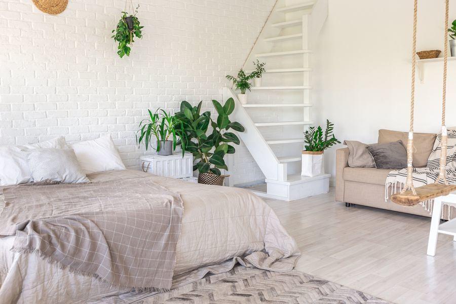 Dormitorio escaleras
