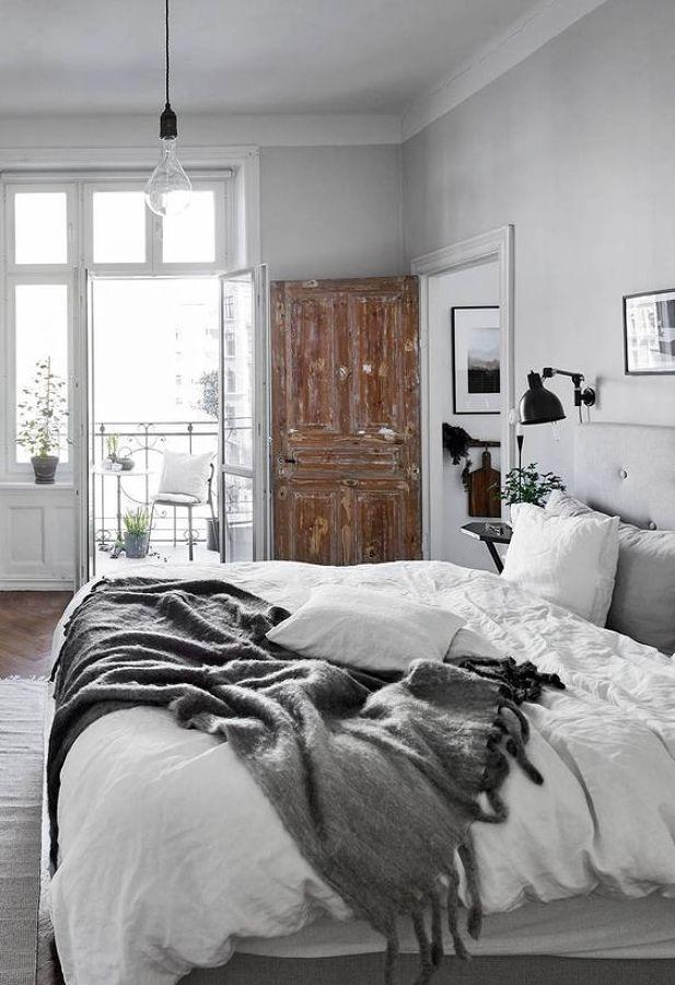 Foto rec mara estilo n rdico con cama sin tender 302711 - Cama estilo nordico ...