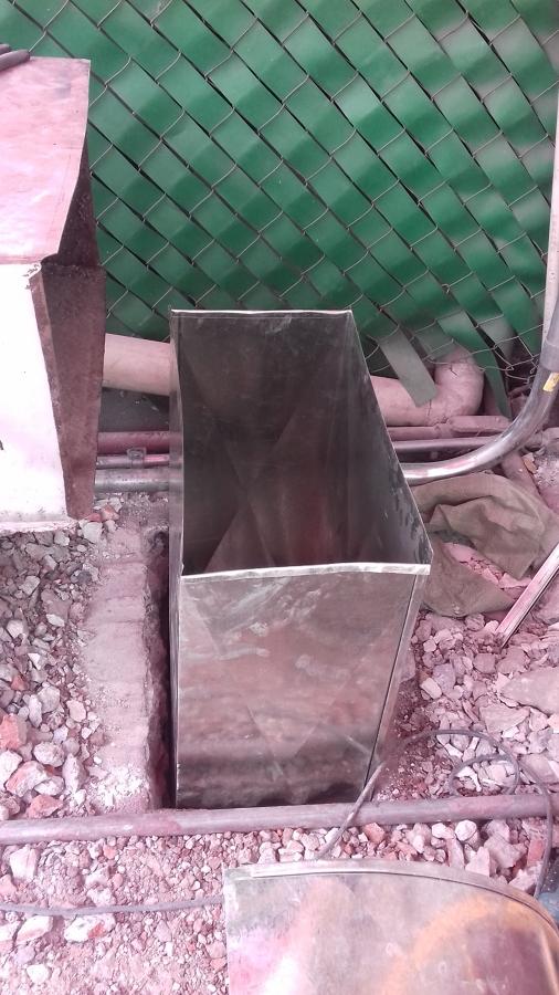 Ducto instalado en azotea