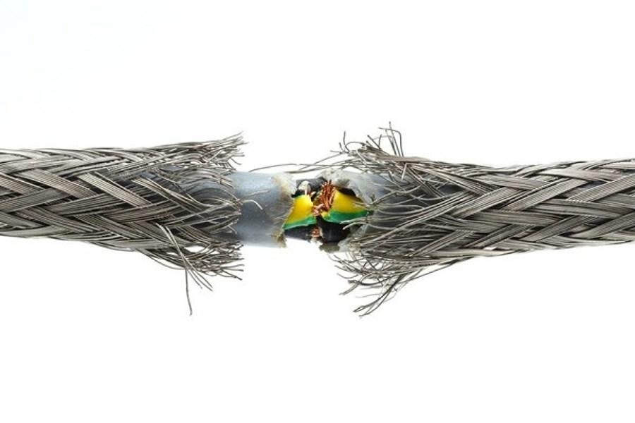 cable desgastado