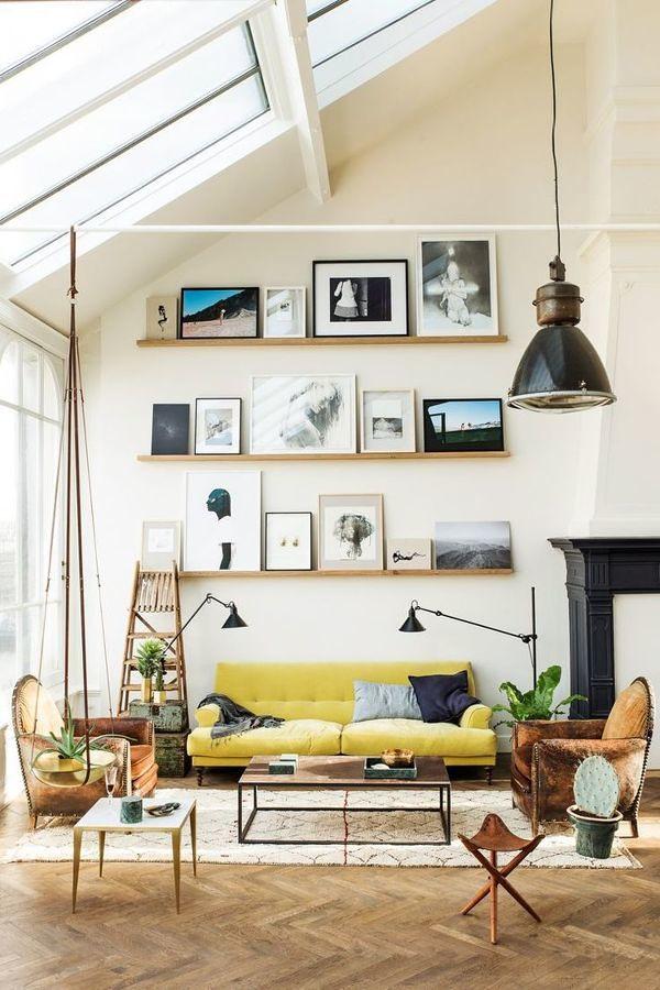 Sala con decoración ecléctica
