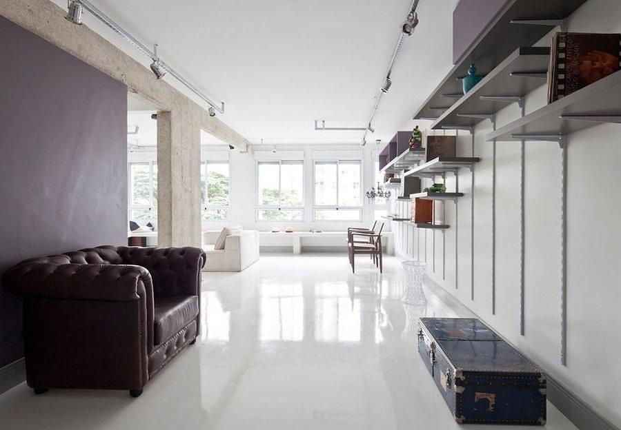 Departamento con piso epóxico