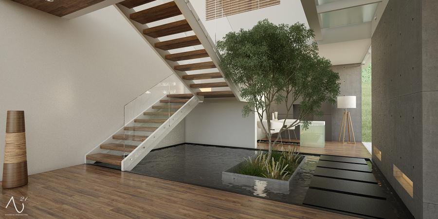 Foto escalera de 21 arquitectos 146760 habitissimo for Plantas para decoracion minimalista