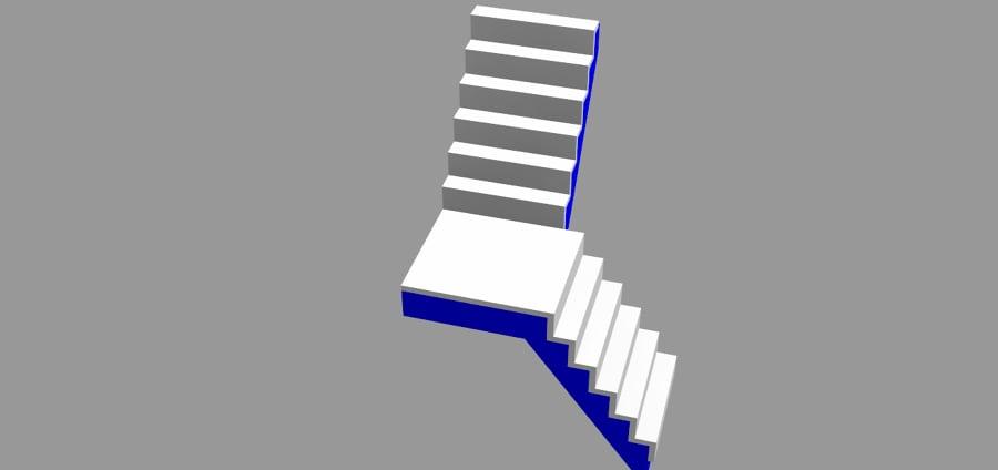 Dise o de escaleras ideas ingenieros for Escalera de hormigon con descanso