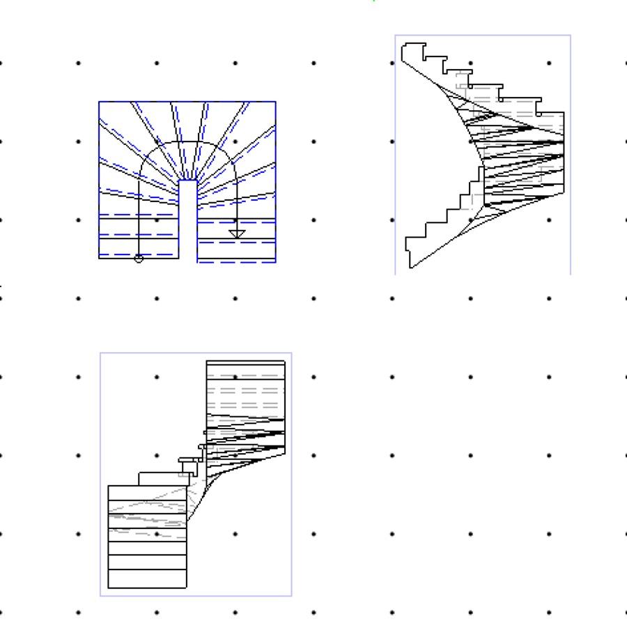 Foto dise os de escaleras de ingenier a proyectos y for Escalera de hormigon con descanso