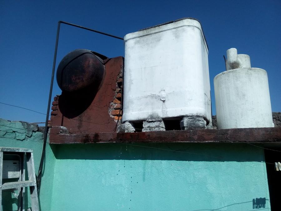 Estado de recepción y almacenamiento de agua