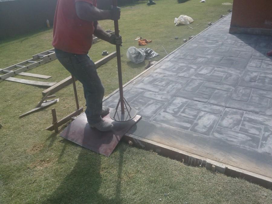 Desbastado de marmol ideas limpieza for Cemento estampado precio