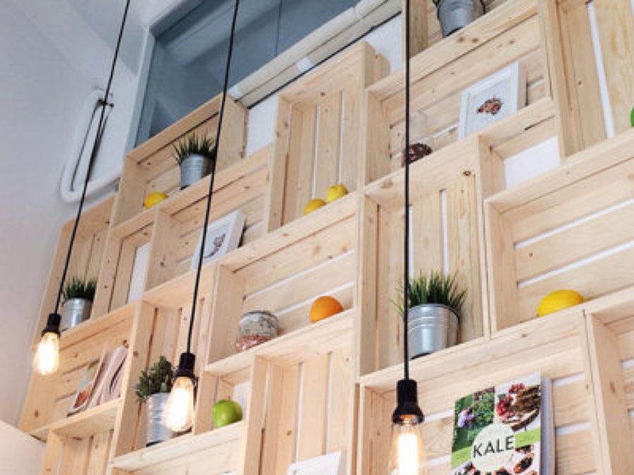 estanteria con cajas