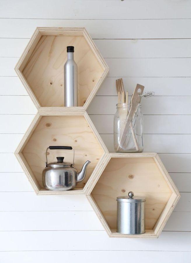 estanteria hexagonal