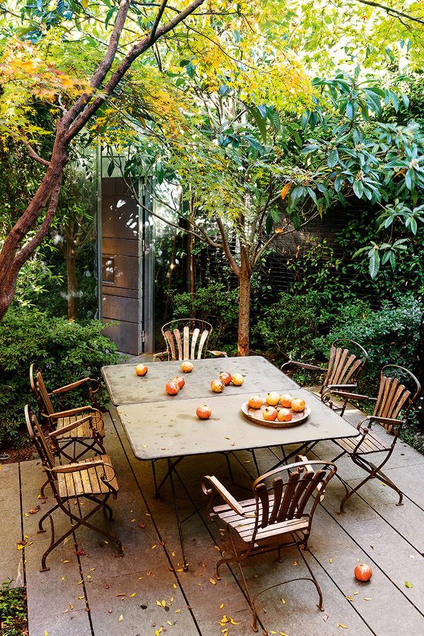 terraza en el patio