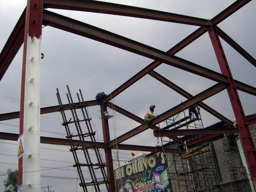 Estructura de acero.