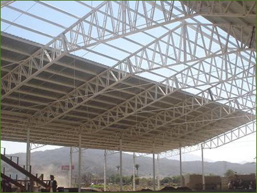 Foto estructura ligera y cubierta de handasa pc sa de cv for Como hacer una estructura metalica para techo