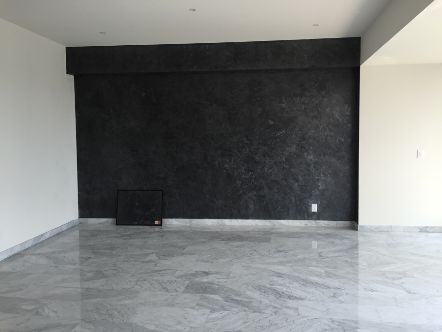 Estuco Metálico- en pared de la sala
