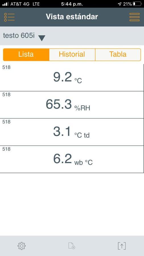 Evidencia de prueba de temperatura de unidad split operando.