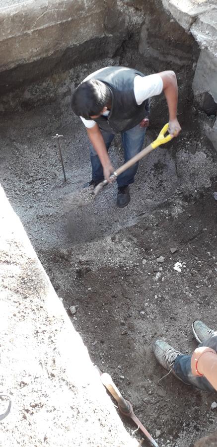 Excavación para colocación de registro