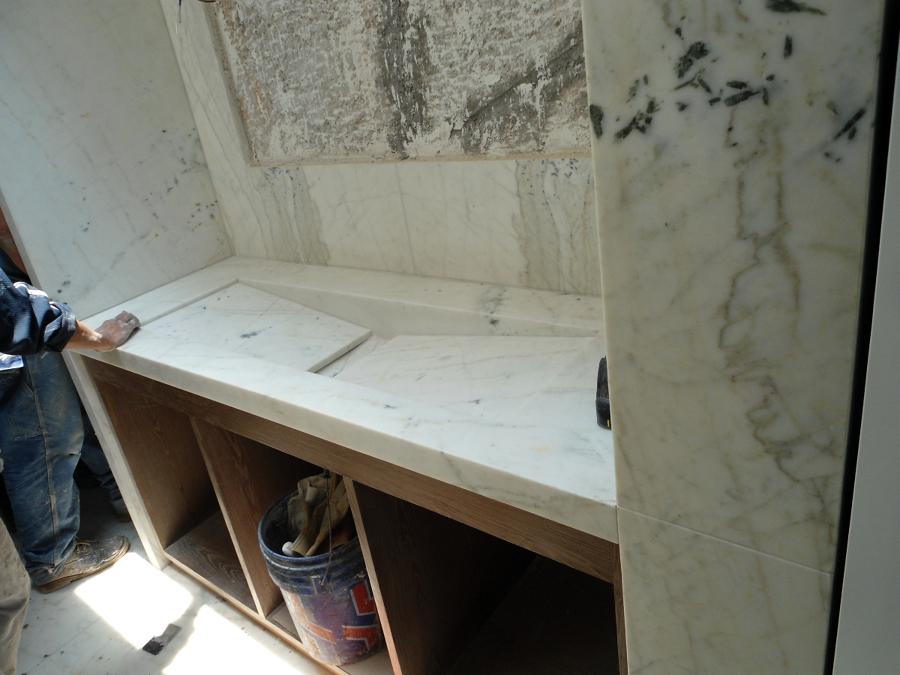Fabricación de lavabo.