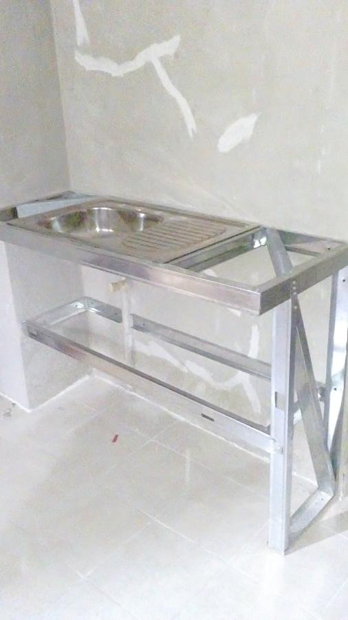 Foto fabricaci n de mueble de tarja de pinturas y for Mueble para tarja